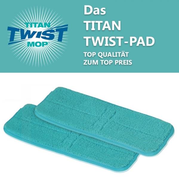 2er Set Wischpad Titan Twist Mop