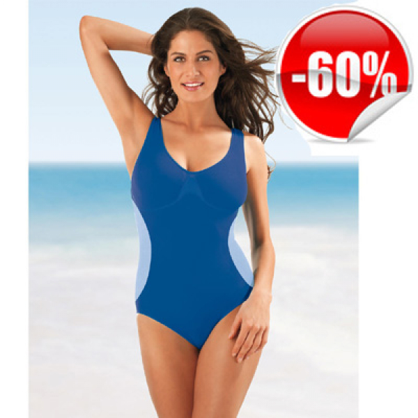 Figur Body Slim Badeanzug Blau Grösse XXL