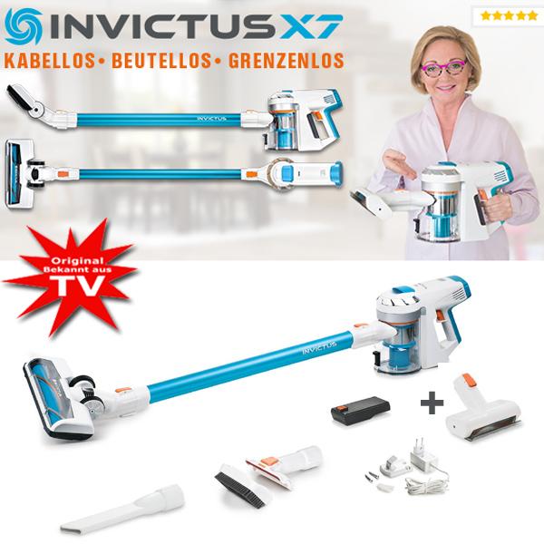 Invictus X7 beutelloser Akkustaubsauger Set 14-tlg.