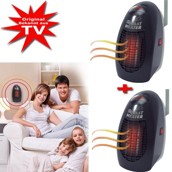 Starlyf Fast Heater mobiles Heizgerät 2er Set