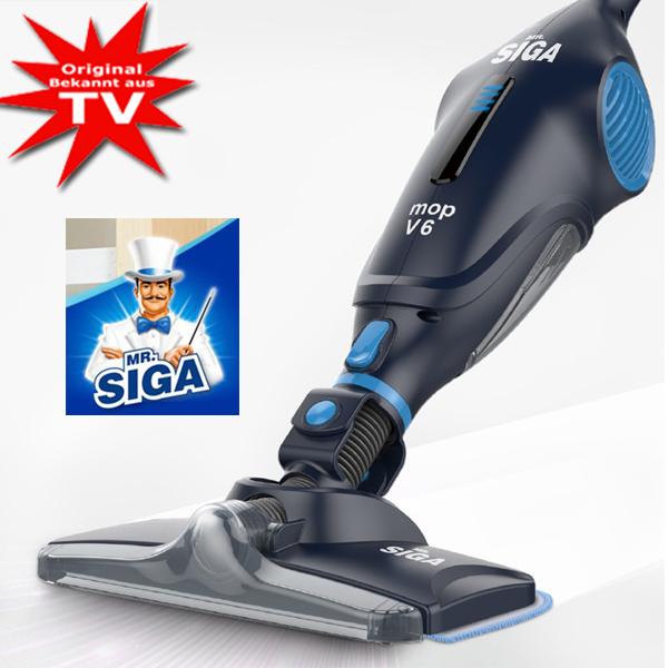 Mr. Siga Mop V6 der 3in1 Akkusauger und Wischmop