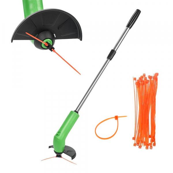 Rasen-Trimmer kabellos - funktioniert mit Kabelbindern