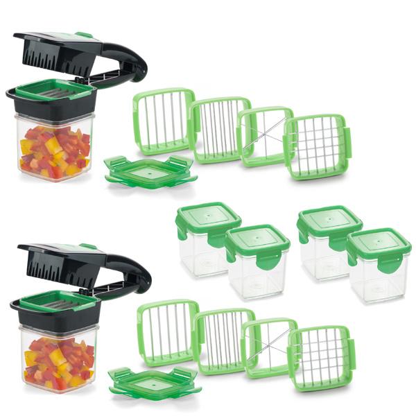 Genius® Nicer Dicer Quick Set 22tlg. inkl. Auffangbehälter grün