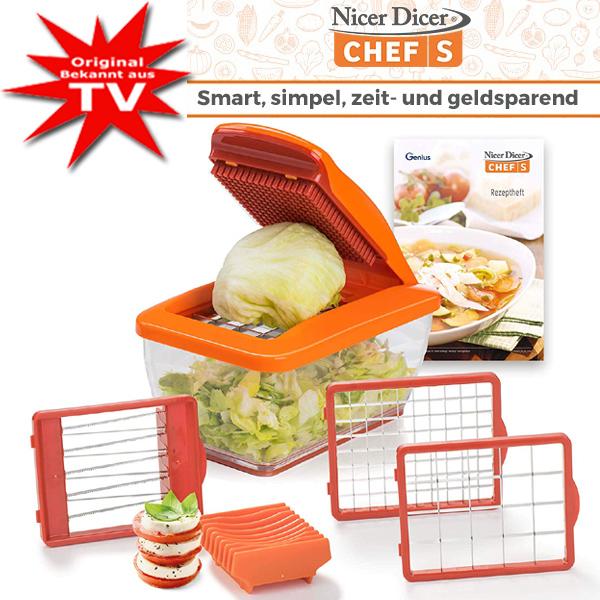 Genius® Nicer Dicer Chef S - Set 8-teilig