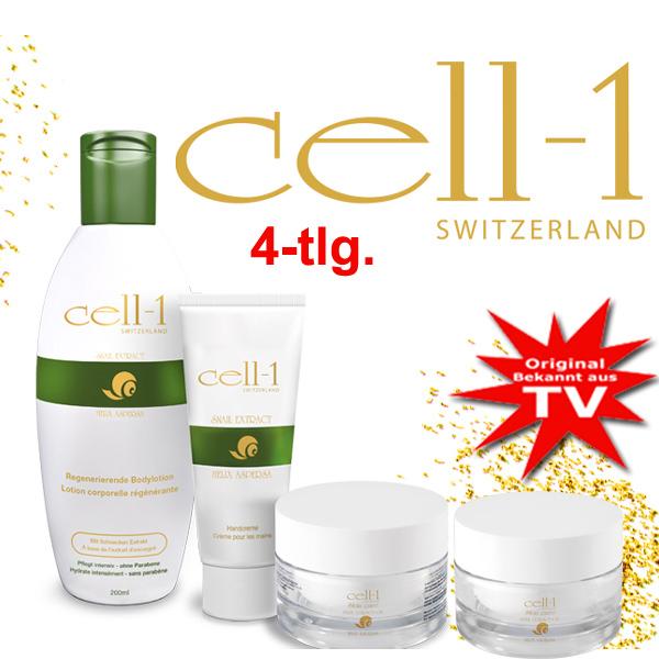 Cell-1 Creme aus Schneckenextrakt - 4Tlg. TV-Set