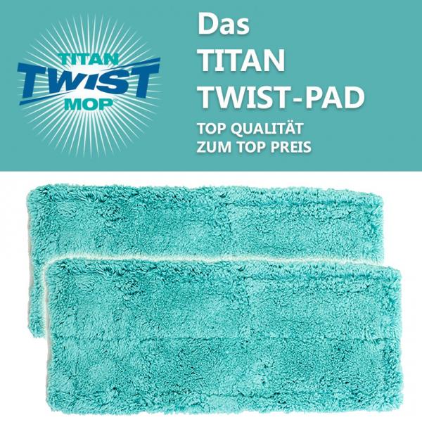 2er Set Mikrofaser Staubmagnet Pad zu Titan Twist Mop