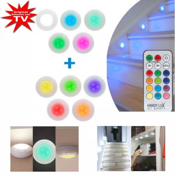 HandyLux Color Click 5+5 gratis kabellose LED Lampen