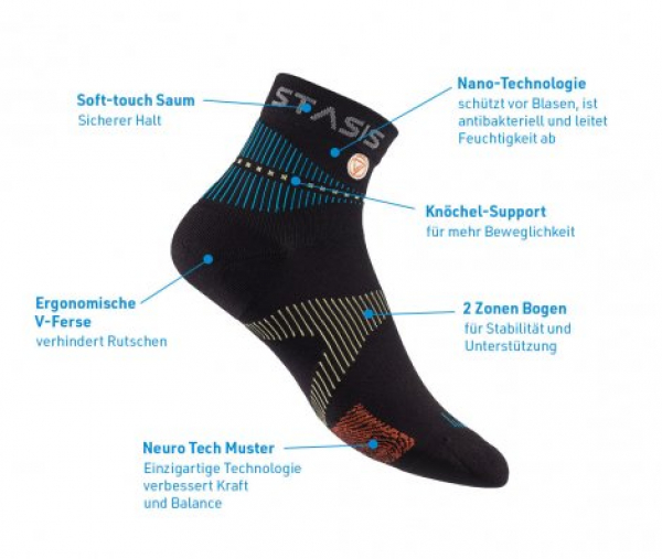 Neuro Socks Athletic Schwarz - Grösse L