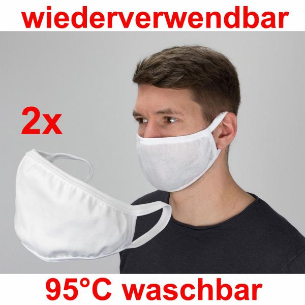 Mund- und Nasenschutz wiederverwendbar im Doppelpack