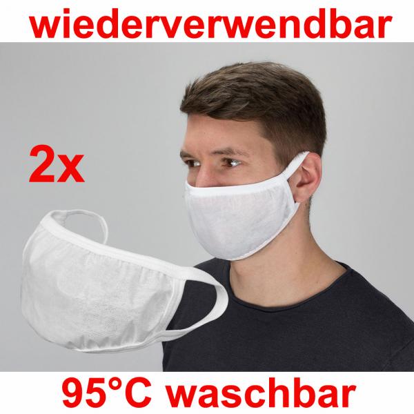 Mund- Nasenschutz wiederverwendbar, wasserabweisend 2Stk.