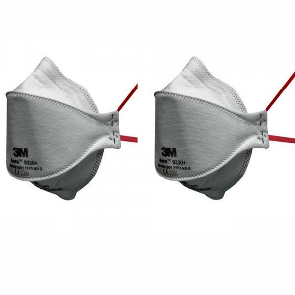 3M Aura Einweg Atemschutzmaske 9330+ FFP3 - 2Stk.
