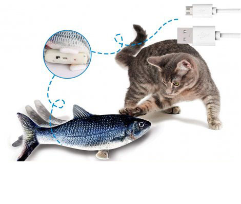 Flippity Fish Interaktives Katzenspielzeug 1+1 Gratis
