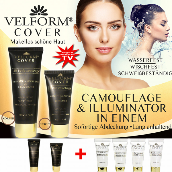 Velform® Cover deckendes Makeup Set - Farbe Nude