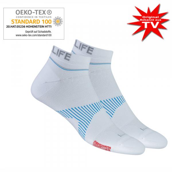 Neuro Socks Athletic NoShow Weiss - Grösse L