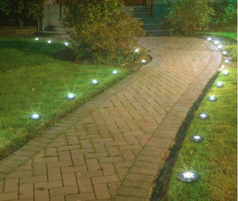 Disk Lights Stone LED-Solarleuchte 4+4 Sets