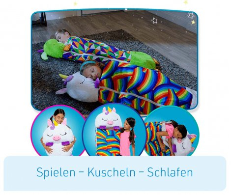 Happy Nappers Kuscheltier Schlafsack - Einhorn Pink Grösse M