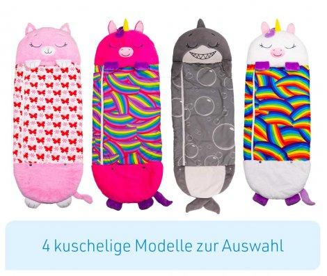 Happy Nappers Kuscheltier Schlafsack - Katze Pink Grösse M
