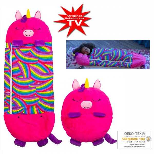 Happy Nappers Kuscheltier Schlafsack - Einhorn Pink Grösse L