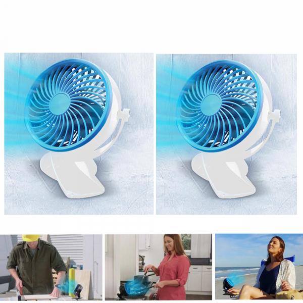 Livington Go Fan - mobiler Akku-Ventilator weiss 1+1