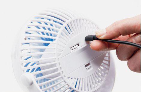 Livington Go Fan - mobiler Akku-Ventilator schwarz 1+1