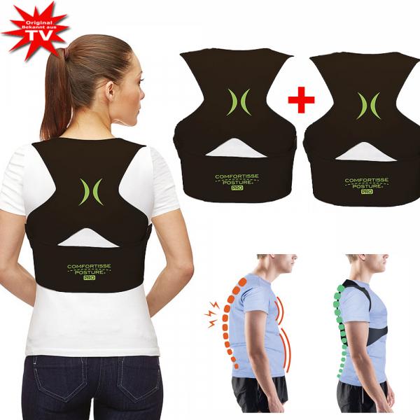 Comfortisse Posture Pro Rücken-Geradehalter 1+1 - Grösse S/M