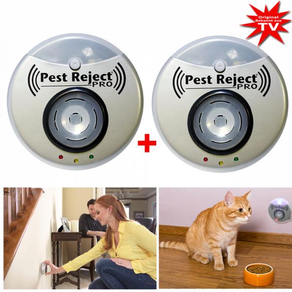 Pest Reject Pro Insektenstecker - vertreibt Ungezifer - ohne Chemie 1+1