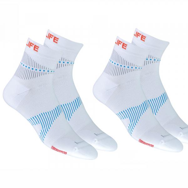 Neuro Socks Athletic Weiss - 2 Paar Angebot
