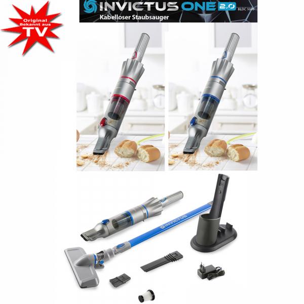 Invictus One 2.0 Hand- und Bodenstaubsauger Set 12-tlg. blau oder rot