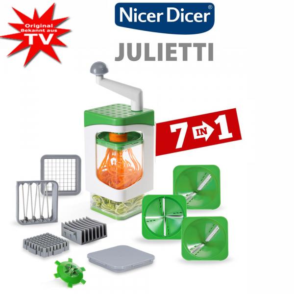 Nicer Dicer Julietti Spiralschneider inkl. Würfel-Einsätze Set 13-tlg.