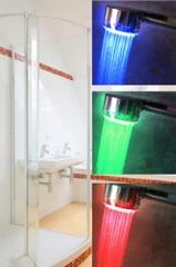 Led Duschbrause mit Temperatur Farbwechsel!