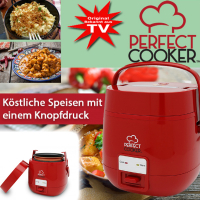 Perfect Cooker leicht und mobil rot 700 ml