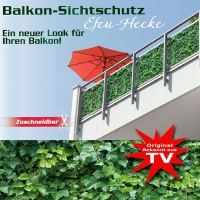 Balcony Privacy Screen Ivy Design Foil