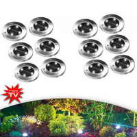 Disk Lights LED-Solarleuchten 12 Stk.