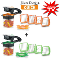 Genius® Nicer Dicer Quick 1+1 Set Free (14 pcs.)
