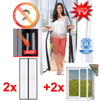 Mosquito net Magic Mesh Set 2xdoor 2xwindow