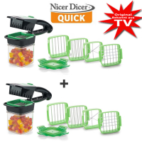 Genius® Nicer Dicer Quick 1+1 Set Free green (14 pcs.)