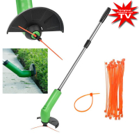 Wireless lawn trimmer works with normal cable ties
