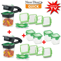 Genius® Nicer Dicer Quick Set 22 pcs. incl. collecting container