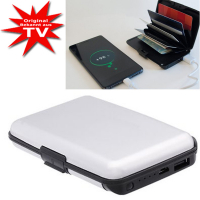 Card Guard Power Wallet silver