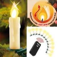 Wireless LED Christmas Tree Candles 12-pc